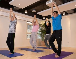 Yoga class for men