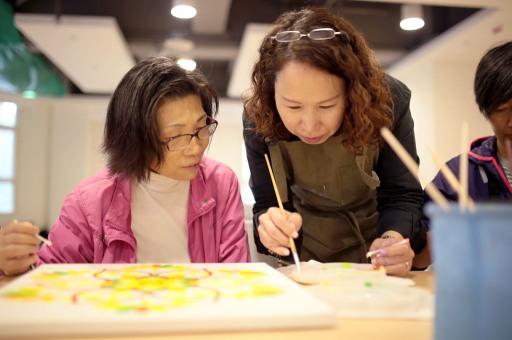 繪畫療愈之一的曼陀羅繪畫課程